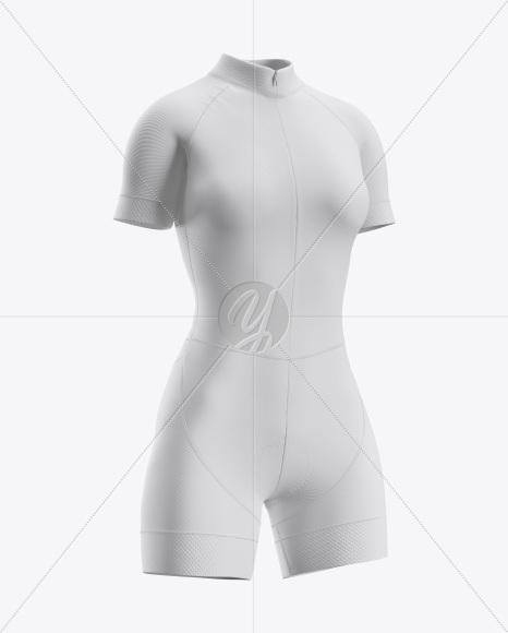 Women's Cycling Skinsuit Mockup (Half Side View)