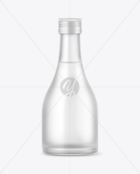 Frosted Glass Vodka Bottle Mockup