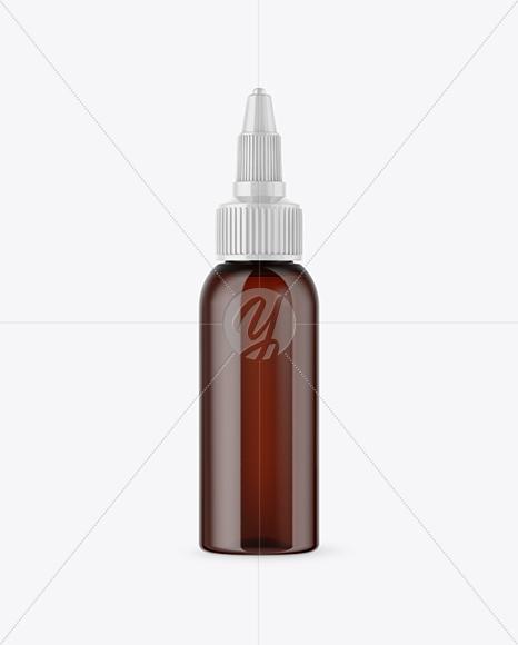 Amber Glass Dropper Bottle Mockup