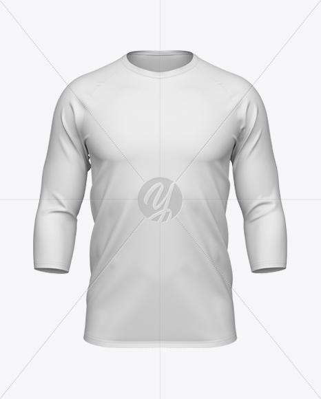 Men's Baseball T-shirt 3/4 Sleeve Mockup
