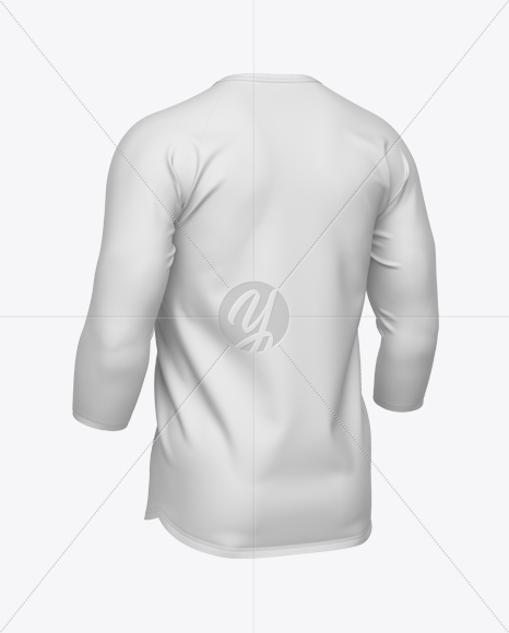 Men's Baseball T-shirt 3/4 Sleeve Mockup