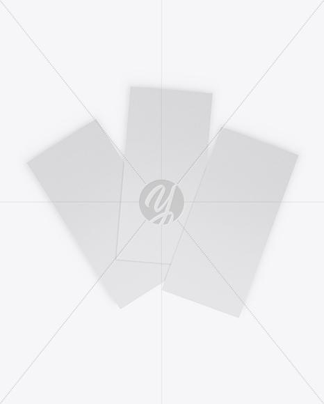 Three Textured Brochures Mockup