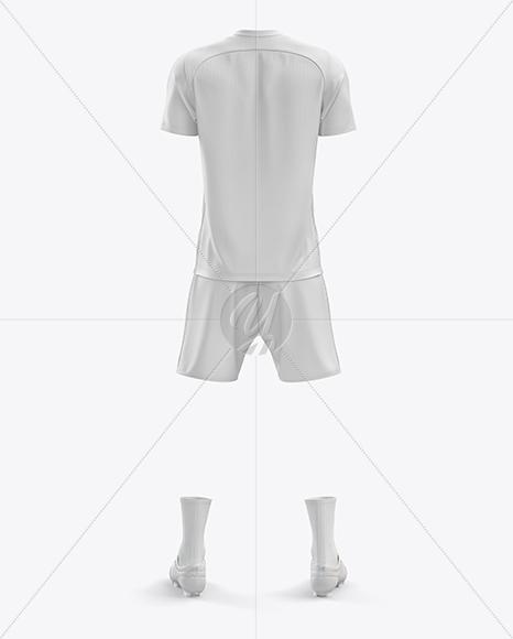 Men's Full Soccer Kit mockup (Back View)