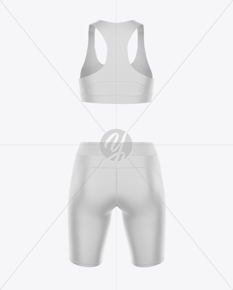 Women's Fitness Kit Mockup - Back view