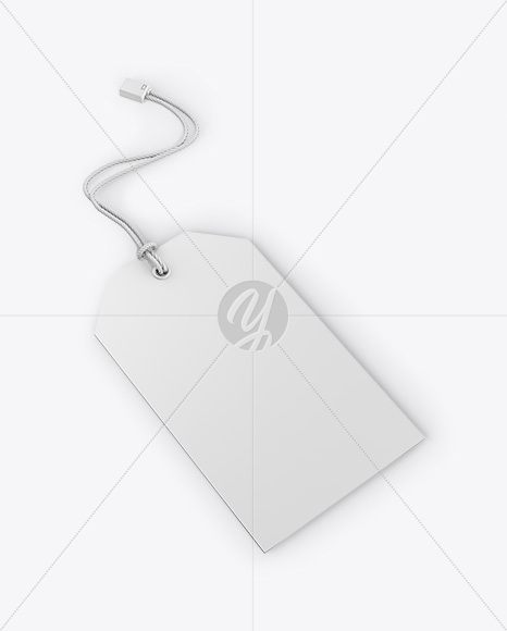 Paper Label With Rope Mockup - Half Side View
