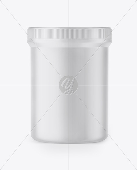Matte Plastic Jar Mockup - Front View
