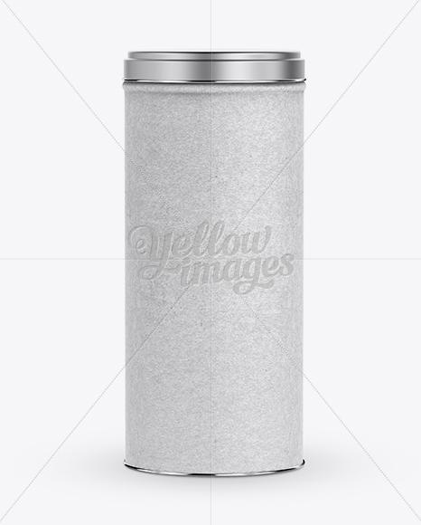 Paper storage tube w aluminum lid mockup in mockups